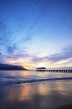 Hanalei Bay pier, Kauai Island, Hawaii, USA by Christian Kober