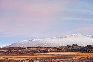 Hverfjall Volcano Crater at Sunset, Myvatn, Iceland, Polar Regions by Christian Kober