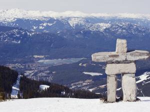Inuit Inukshuk Stone Statue, Whistler Mountain Resort by Christian Kober