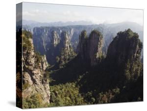 Karst Limestone Rock Formations at Zhangjiajie Forest Park, Wulingyuan Scenic Area, Hunan Province by Christian Kober
