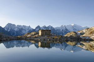 Lac Blanc, Mont Blanc and Aiguilles De Chamonix, Chamonix, Haute-Savoie, French Alps by Christian Kober