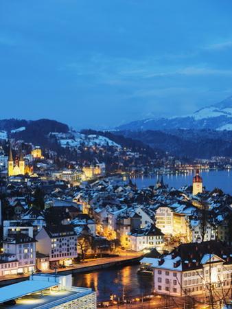 Lucerne on Lake Lucerne, Lucerne, Switzerland, Europe by Christian Kober