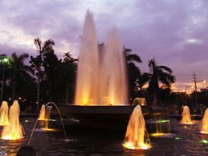 Luzon, Manila, Intramuros District - Rizal Park Fountain at Sunset, Philippines by Christian Kober