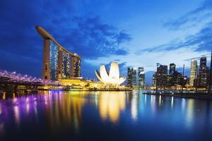 Marina Bay Sands Hotel and Arts Science Museum, Singapore, Southeast Asia, Asia by Christian Kober