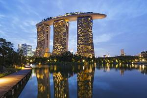 Marina Bay Sands Hotel, Singapore, Southeast Asia, Asia by Christian Kober