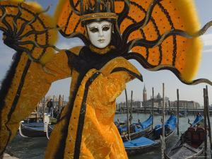 Masked Faces and Costumes at the Venice Carnival, Venice, Italy by Christian Kober