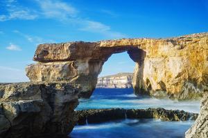 Mediterranean Europe, Malta, Gozo Island, Dwerja Bay, the Azure Window Natural Arch by Christian Kober