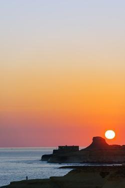 Mediterranean Europe, Malta, Gozo Island, Sunrise over Xwejni Bay by Christian Kober