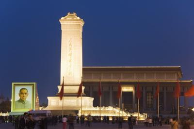 Monument to the Peoples Heroes, Tiananmen Square, Beijing, China, Asia by Christian Kober