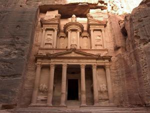 Morning Light on the Treasury, Petra, Unesco World Heritage Site, Wadi Musa, Jordan by Christian Kober