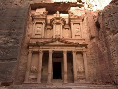 Morning Light on the Treasury, Petra, Unesco World Heritage Site, Wadi Musa, Jordan