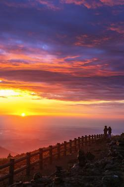 Mount Zao San, sunrise, Yamagata prefecture, Honshu, Japan by Christian Kober