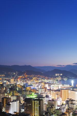 Nagasaki Bay at Night, Nagasaki, Kyushu, Japan, Asia by Christian Kober