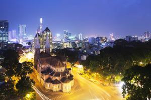 Notre Dame Cathedral, Ho Chi Minh City (Saigon), Vietnam, Indochina, Southeast Asia, Asia by Christian Kober