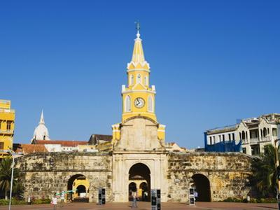 Od Town City Wall and Puerto Del Reloj, UNESCO World Heritage Site, Cartagena, Colombia by Christian Kober
