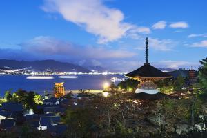 Pagoda at Itsukushima Jinja Shinto Shrine, Miyajima Island, Hiroshima Prefecture by Christian Kober