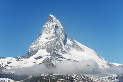 Paraglider Flying Near the Matterhorn, 4478M, Zermatt, Valais, Swiss Alps, Switzerland, Europe by Christian Kober