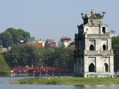 Perfume Pagoda, the Hup Bridge, Hoan Kiem Lake, Hanoi, Northern Vietnam, Southeast Asia by Christian Kober