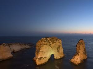 Pigeon Rocks (Rawcheh Rocks), Beirut, Lebanon, Middle East by Christian Kober