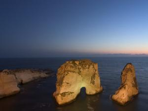 Pigeon Rocks (Rawcheh Rocks), Beirut, Lebanon, Middle East by Christian Kober