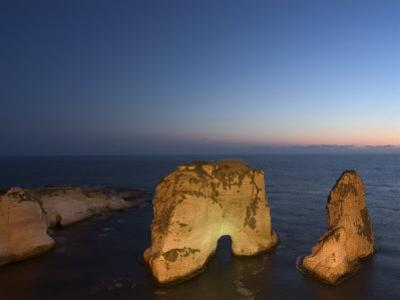 Pigeon Rocks (Rawcheh Rocks), Beirut, Lebanon, Middle East