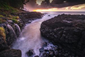 Princeville, Queens Baths, Kauai Island, Hawaii, USA by Christian Kober