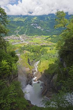 Reichenbach Falls, Fictional Location of Sherlock Holmes' Death, Meiringen, Switzerland, Europe by Christian Kober