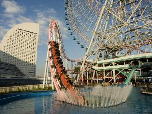 Rollercoaster and Fun Fair Amusement Park, Minato Mirai, Yokohama, Japan by Christian Kober