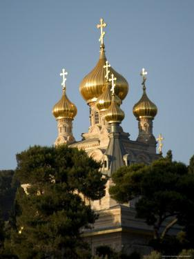 Russian Orthodox Church of Mary Magdalene, Mount of Olives, Jerusalem, Israel, Middle East by Christian Kober