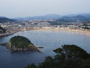 San Sebastian Bay at Night, Basque Country, Euskadi, Spain by Christian Kober