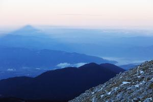 Shadow of Mount Vihren, 2945m, Pirin National Park, UNESCO World Heritage Site, Bansko, Bulgaria, E by Christian Kober