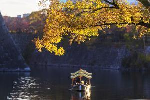 Sightseeing boat, Osaka Castle, Osaka, Kansai, Japan by Christian Kober