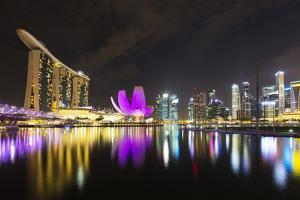 South East Asia, Singapore, Marina Bay Sands and Art Science Museum by Christian Kober