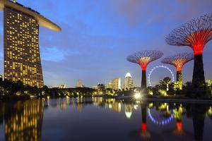 South East Asia, Singapore, South East Asia, Singapore, Gardens by the Bay and Marina Bay Sands by Christian Kober