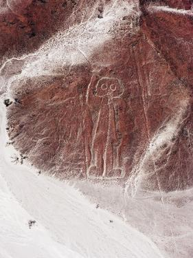 Spaceman, Lines and Geoglyphs of Nasca, UNESCO World Heritage Site, Peru, South America by Christian Kober
