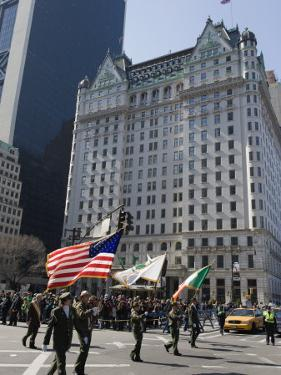 St. Patricks Day Celebrations in Front of the Plaza Hotel, 5th Avenue, Manhattan by Christian Kober
