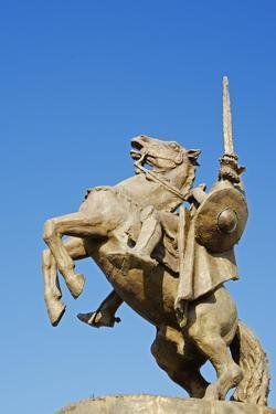 Statue of Svatopluk, Ruler of Moravia 869, Bratislava Castle, Bratislava, Slovakia, Europe by Christian Kober