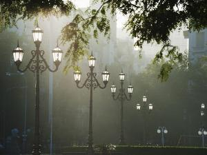 Street Lamps, Buenos Aires, Argentina, South America by Christian Kober