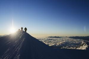 Sunrise from Summit of Mont Blanc, 4810M, Haute-Savoie, French Alps, France, Europe by Christian Kober