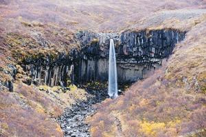 Svartifoss Waterfall, Skaftafell National Park, Iceland, Polar Regions by Christian Kober