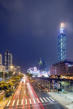 Taipei 101 Building, Taipei, Taiwan, Asia by Christian Kober