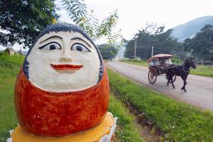 Temple Decoration, Nget Pyaw Taw Pagoda, Pindaya, Myanmar (Burma), Asia by Christian Kober