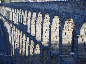 The 1St Century Roman Aqueduct, Segovia, Madrid, Spain, Europe by Christian Kober