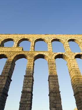 The 1St Century Roman Aqueduct, Segovia, Madrid, Spain, Europe by Christian Kober