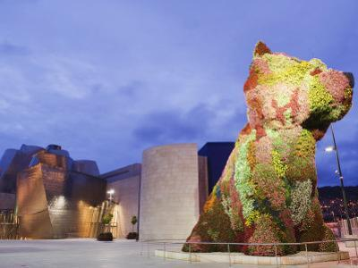 The Guggenheim, Designed by Architect Frank Gehry, and Puppy, the Sculpture by Jeff Koons