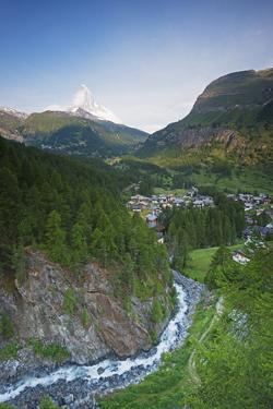 The Matterhorn, 4478M, and Zermatt, Valais, Swiss Alps, Switzerland, Europe by Christian Kober