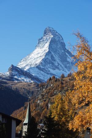 The Matterhorn, 4478m, in autumn, Zermatt, Valais, Swiss Alps, Switzerland, Europe by Christian Kober