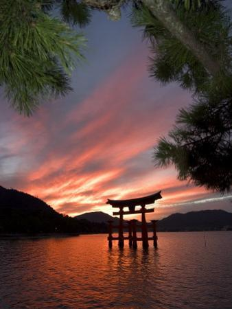 Torii Shrine Gate in the Sea, Miyajima Island, Honshu, Japan by Christian Kober