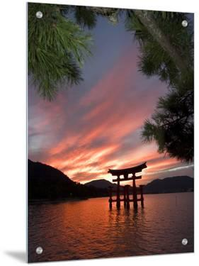 Torii Shrine Gate in the Sea, Miyajima Island, Honshu, Japan by Christian Kober