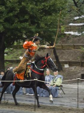 Traditional Costume and Horse, Ceremony for Archery Festival, Tokyo, Japan by Christian Kober
